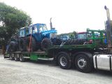 Tractors on way to Oyster Farm in Nth. Ireland July 2014